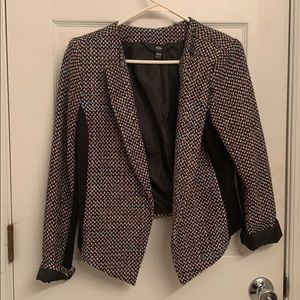 Multicolored Woven Jacket with Black Sides